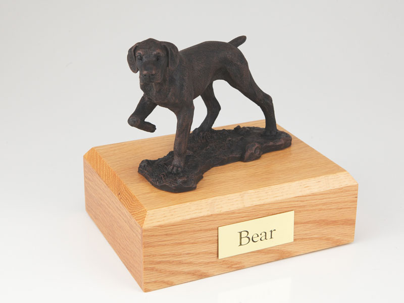 Dog, Pointer, Bronze - Figurine Urn