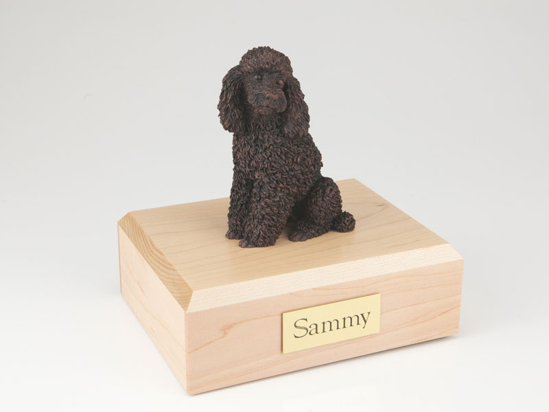 Dog, Poodle, Bronze - Figurine Urn