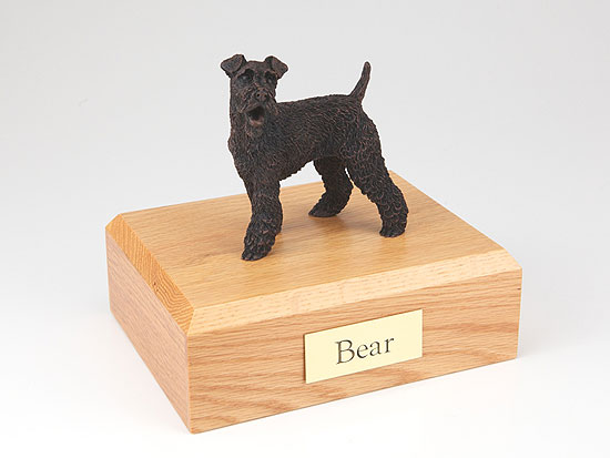 Dog, Fox Terrier, Bronze - Figurine Urn