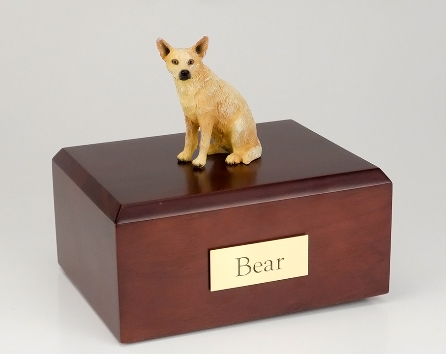 Dog, Australian Cattle Dog, Red - Figurine Urn