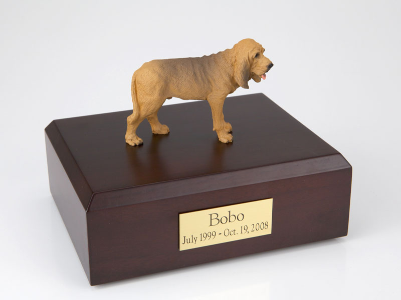 Dog, Bloodhound - Figurine Urn