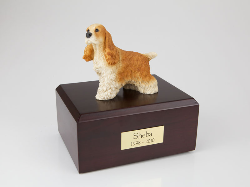 Dog, Cocker Spaniel, Tan - Figurine Urn