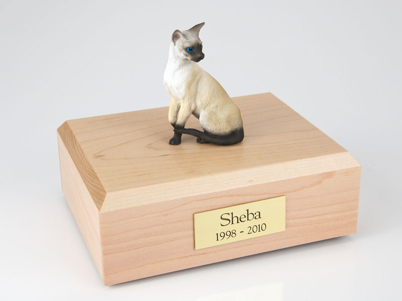 Cat, Siamese - Figurine Urn