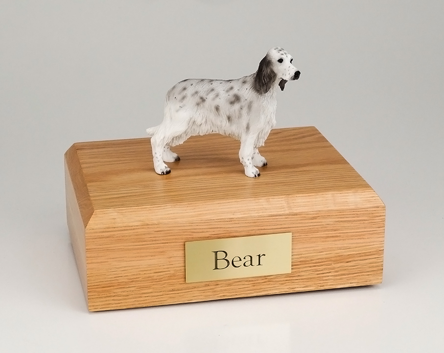 Dog, English Setter, Blue Belton - Figurine Urn