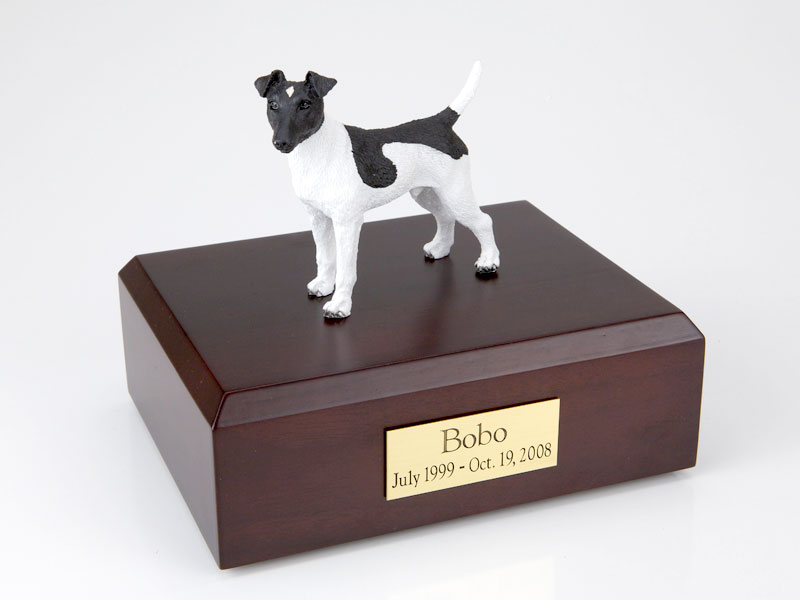 Dog, Fox Terrier, Smooth-Black/White - Figurine Urn