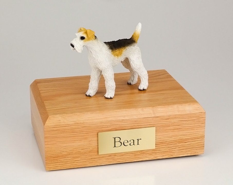 Dog, Fox Terrier, Wire-Haired - Figurine Urn