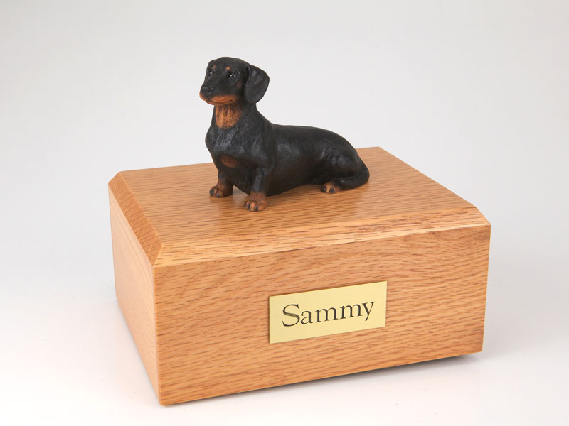 Dog, Dachshund, Black - Figurine Urn