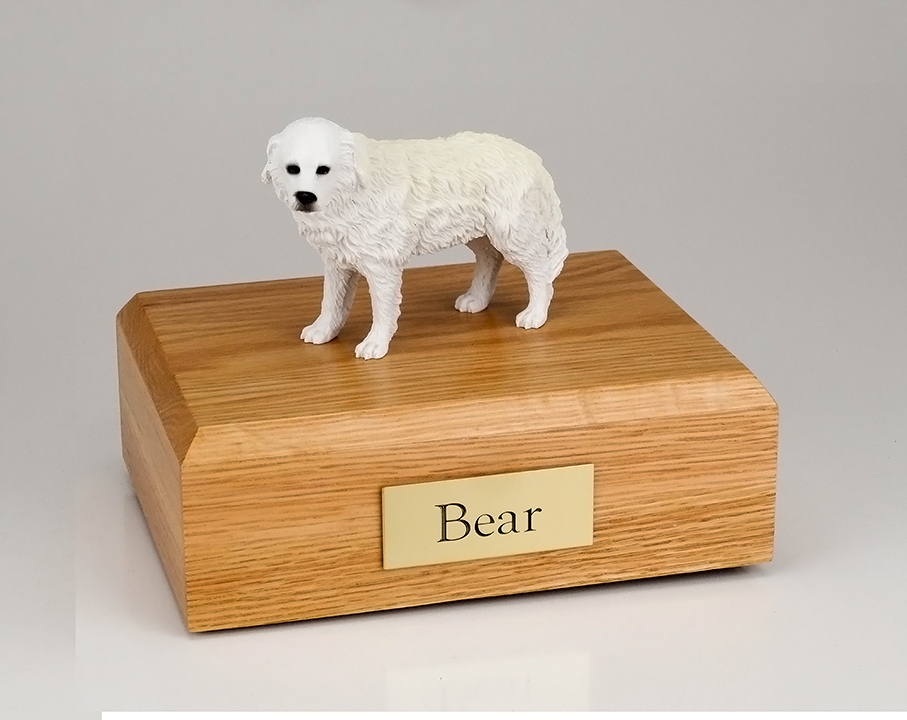 Dog, Great Pyrenees - Figurine Urn