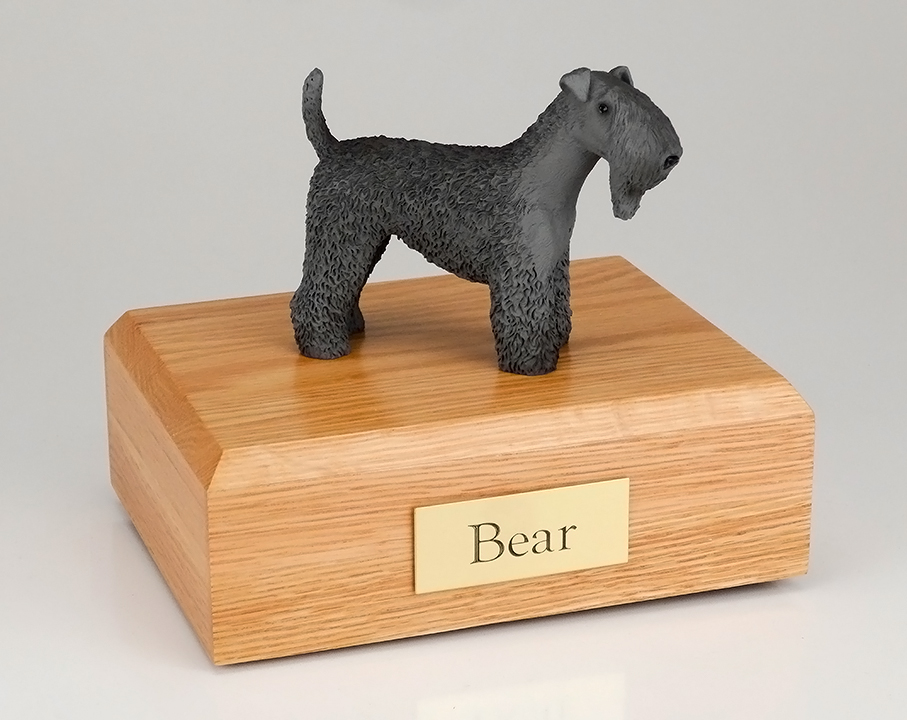 Dog, Kerry Blue Terrier - Figurine Urn