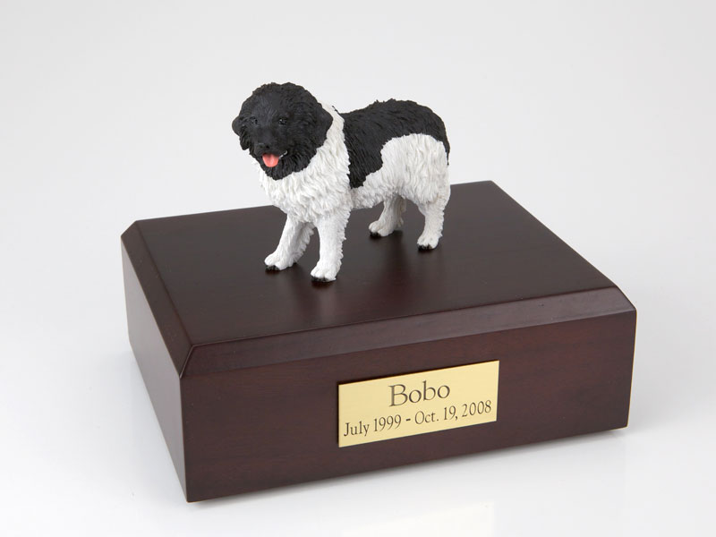 Dog, Landseer - Figurine Urn