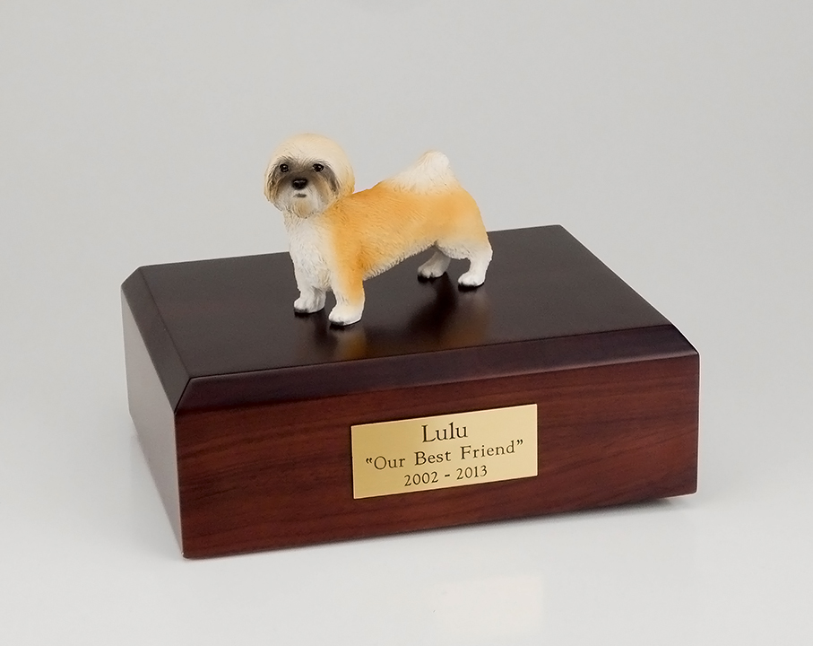 Dog, Lhasa Apso, Brown, Puppycut - Figurine Urn