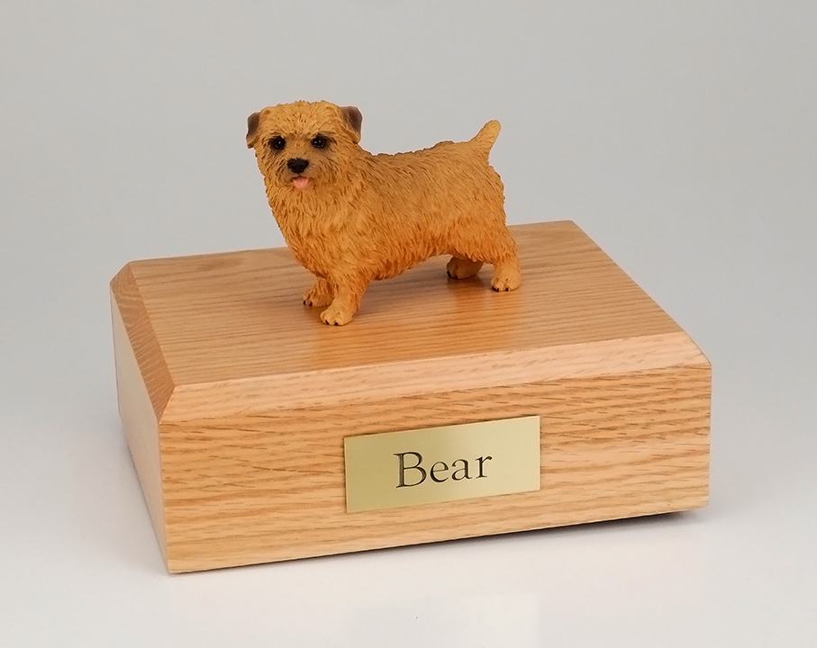 Dog, Norfolk Terrier - Figurine Urn