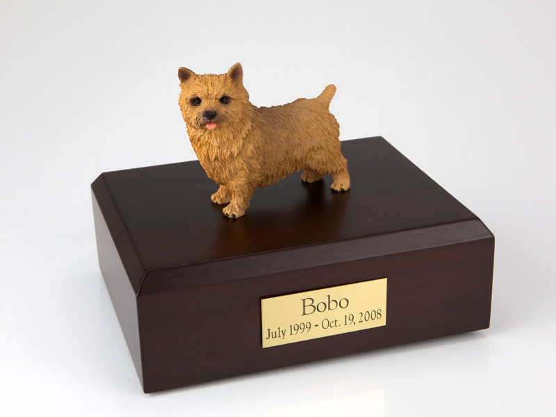 Dog, Norwich Terrier - Figurine Urn