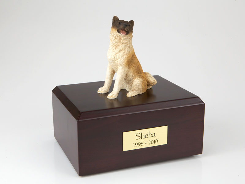 Dog, Akita, Japanese, Sitting - Figurine Urn