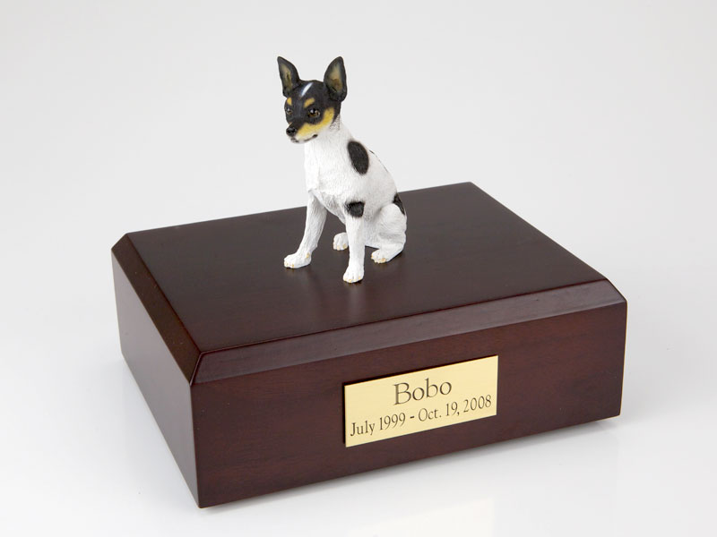 Dog, Rat Terrier - Figurine Urn