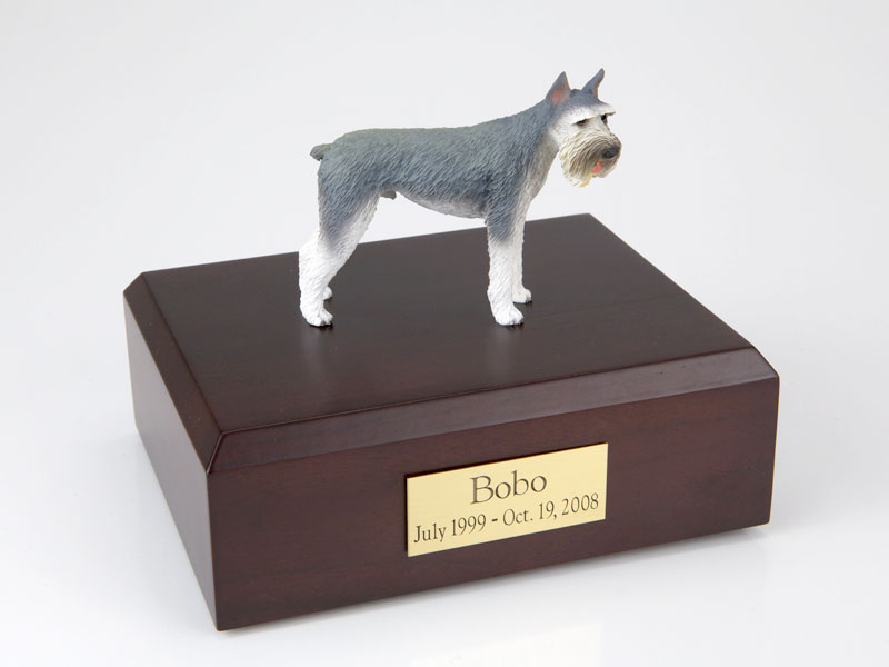 Dog, Schnauzer Giant, Gray - Figurine Urn