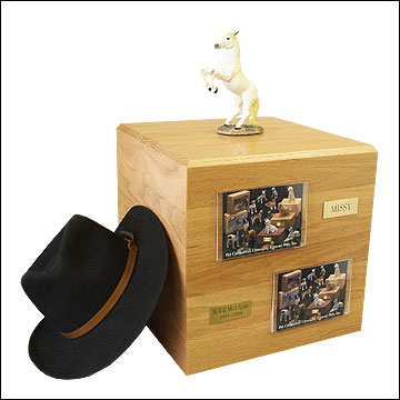 White, Rearing - Horse Cremation Urn