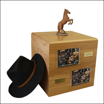 Chesnut, Rearing - Horse Cremation Urn