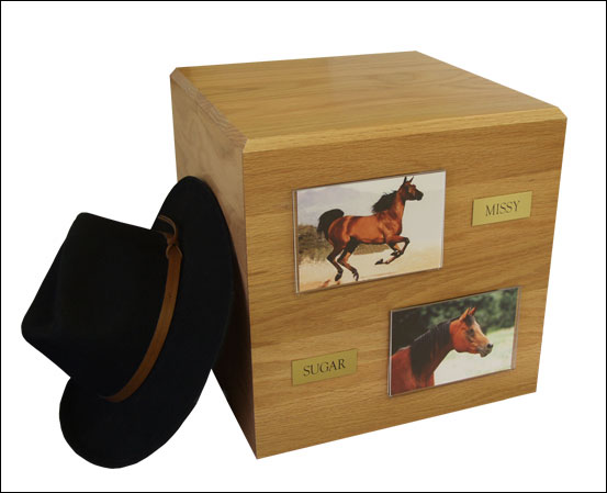 Horse Cremation Urn (urn only) - Click Image to Close