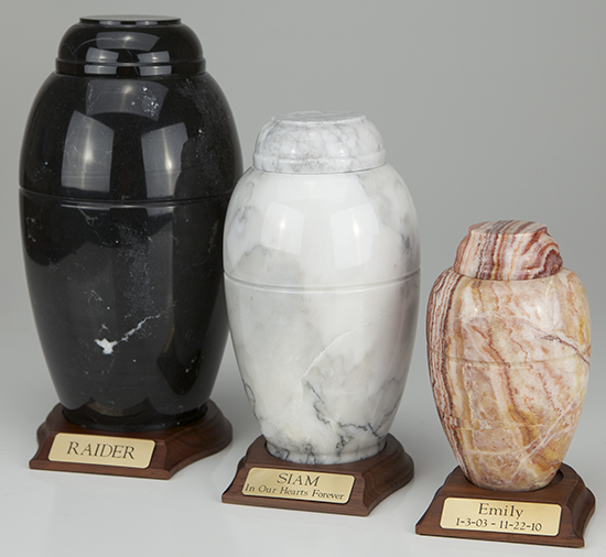 Marble Vase Series - Small (w/ base)