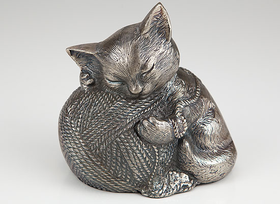 Precious Kitty - Silver - Click Image to Close